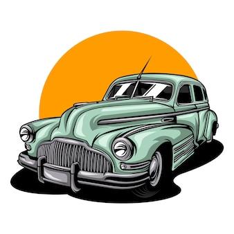 Vintage klassieke auto illustratie