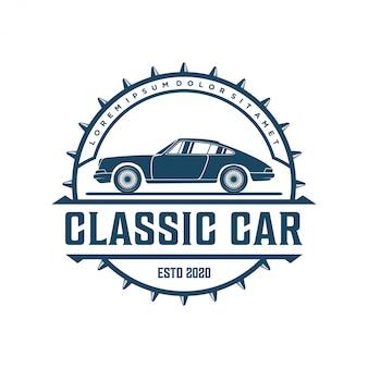 Vintage klassieke auto-logo's voor workshops of club