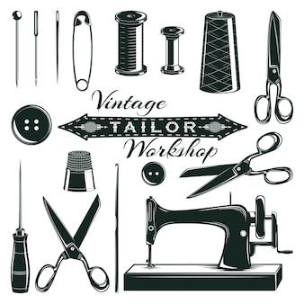 Vintage kleermaker elementen instellen