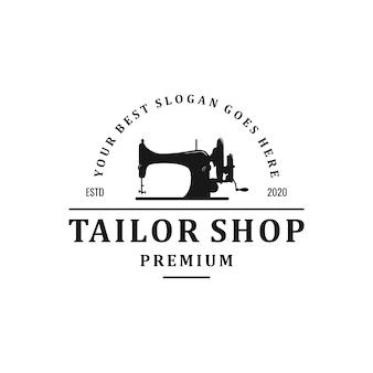 Vintage kleermaker logo ontwerp