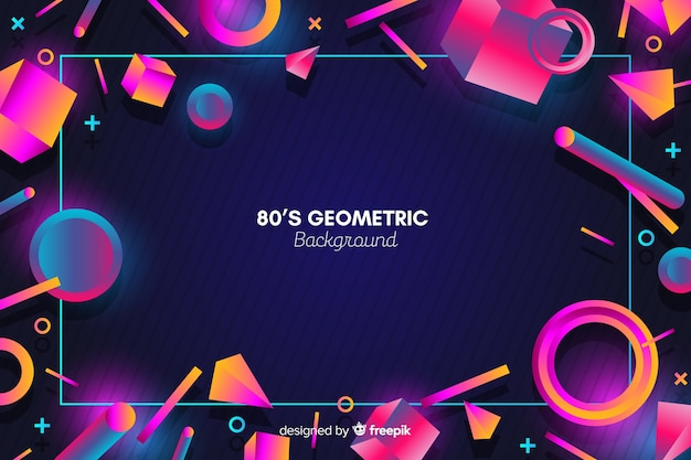 Vintage kleurrijke geometrische vorm achtergrond