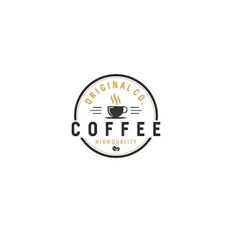 Vintage koffie logo badges voorraad vector