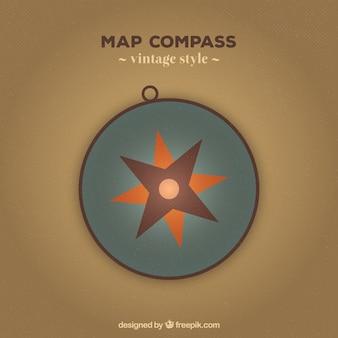 Vintage kompas achtergrond