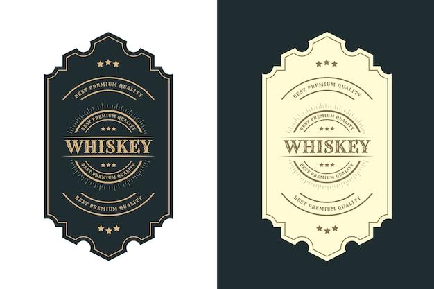 Vintage koninklijk luxe frames-logo-label voor bier, whisky, alcohol en dranken, fles, etiketten