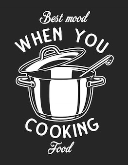 Vintage kookgerei zwart-wit