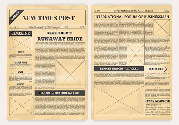 Vintage krant illustratie