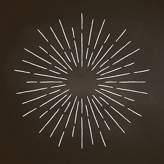 Vintage krijt geweven stralen op zwart