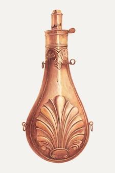 Vintage kruitfles illustratie vector, geremixt van het kunstwerk door robert wr taylor