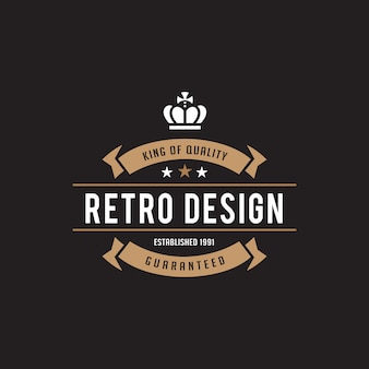 Vintage label badge logo icoon.