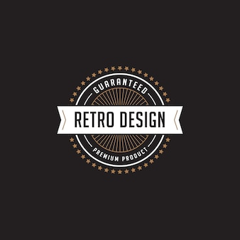 Vintage label badge logo vector icoon.