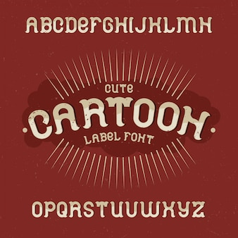 Vintage label lettertype genaamd cartoon. goed lettertype om te gebruiken in vintage labels of logo.