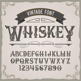 Vintage label lettertype met de naam