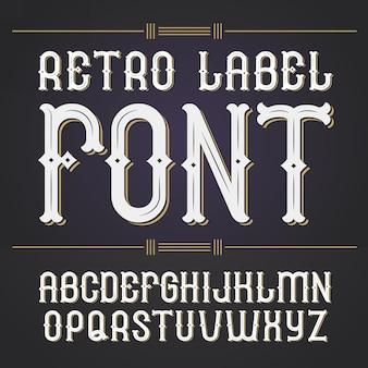Vintage label lettertype, moderne stijl whisky labelstijl