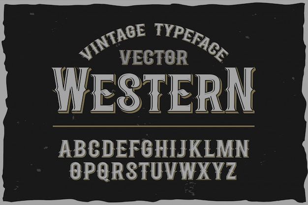 Vintage label lettertype retro lettertype
