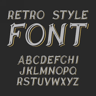Vintage label lettertype