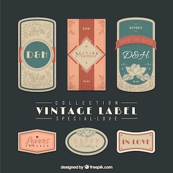 Vintage label speciale liefde collectie