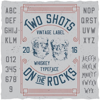 Vintage label whisky poster