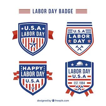 Vintage labeldag badge collectie met platte ontwerp