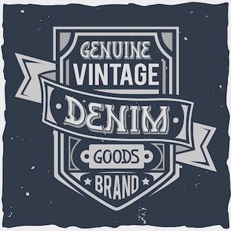 Vintage labelontwerp met belettering samenstelling op donker