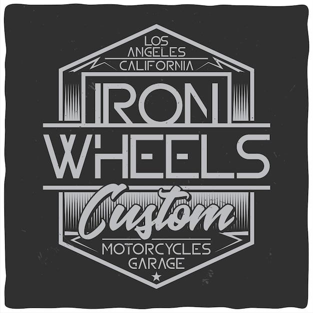 Vintage labelontwerp met belettering samenstelling op donkere achtergrond. t-shirt ontwerp.