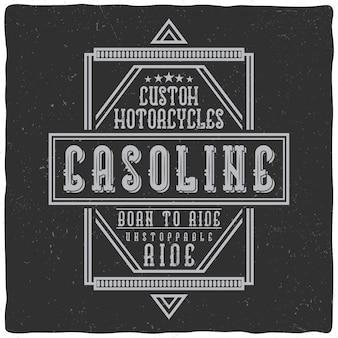 Vintage labelontwerp met belettering samenstelling op donkere achtergrond