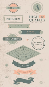 Vintage labels en badges