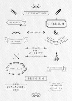 Vintage labels en banners