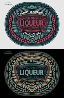 Vintage labelsjabloon moderne stijl pakketontwerp