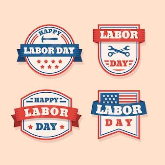 Vintage labour day label collectie