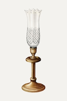 Vintage lamp vectorillustratie, geremixt van het kunstwerk door walter g. capuozzo