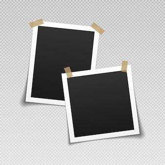 Vintage leeg fotokader met plakband