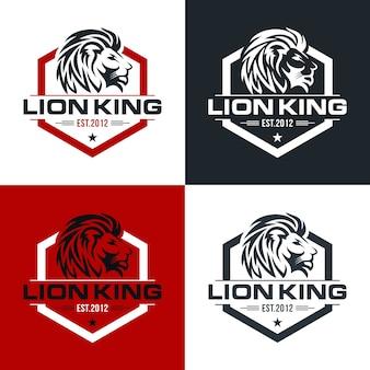 Vintage leeuw logo ontwerpsjabloon