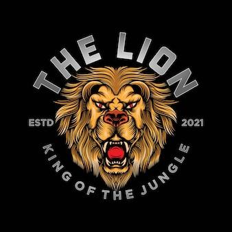 Vintage leeuw logo