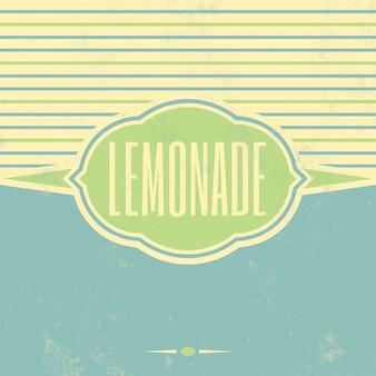 Vintage lemonade teken