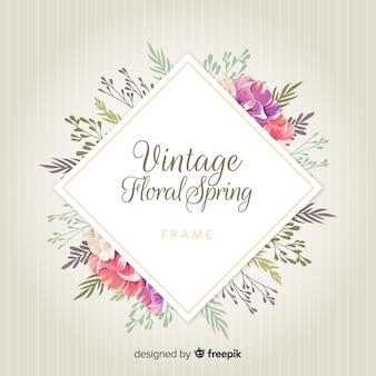 Vintage lente bloemen frame