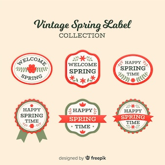 Vintage lente label collectie