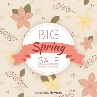 Vintage lente verkoop achtergrond