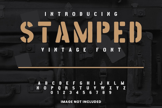 Vintage lettertype display lettertype handgemaakt
