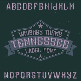 Vintage lettertype genaamd tennessee.