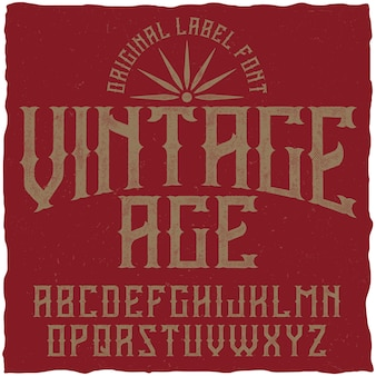 Vintage lettertype genaamd vintage age