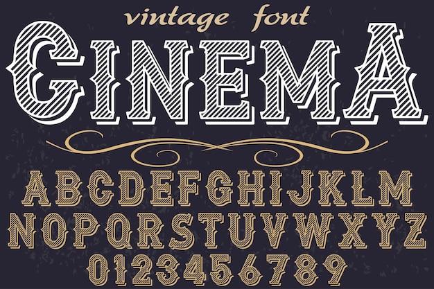 Vintage lettertype grafische stijl bioscoop
