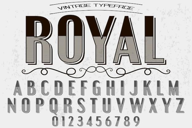 Vintage lettertype handgemaakt koninklijk