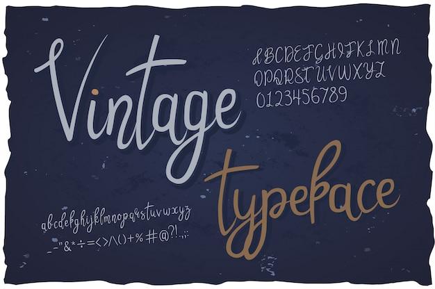 Vintage lettertype handgeschreven lettertype