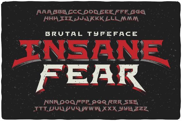 Vintage lettertype ingesteld met getextureerde effect