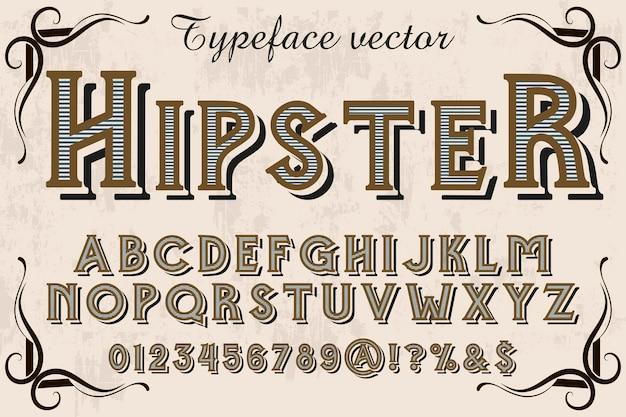Vintage lettertype lettertype typografie lettertype ontwerp hipster