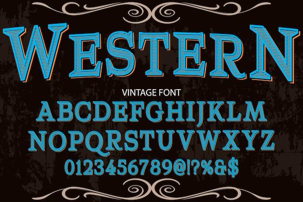 Vintage lettertype lettertype typografie lettertype ontwerp western
