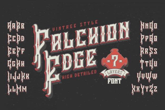 Vintage lettertype met geëxtrudeerd effect