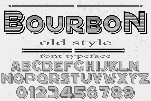 Vintage lettertype ontwerp bourbon