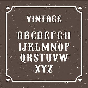 Vintage lettertype voor klassieke circusshow