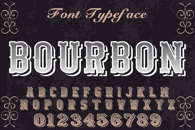 Vintage lettertype